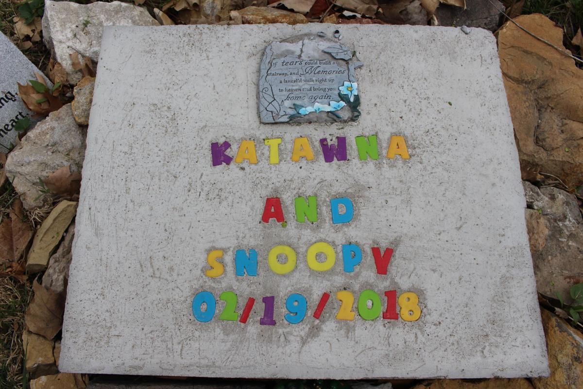 A memorial made by Michael Clay for Katawna and Snoopy,