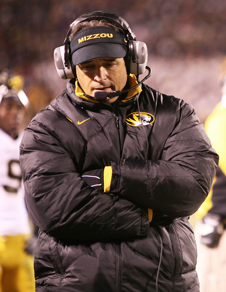 Gary Pinkel paces the sideline during a Border War game (copy)