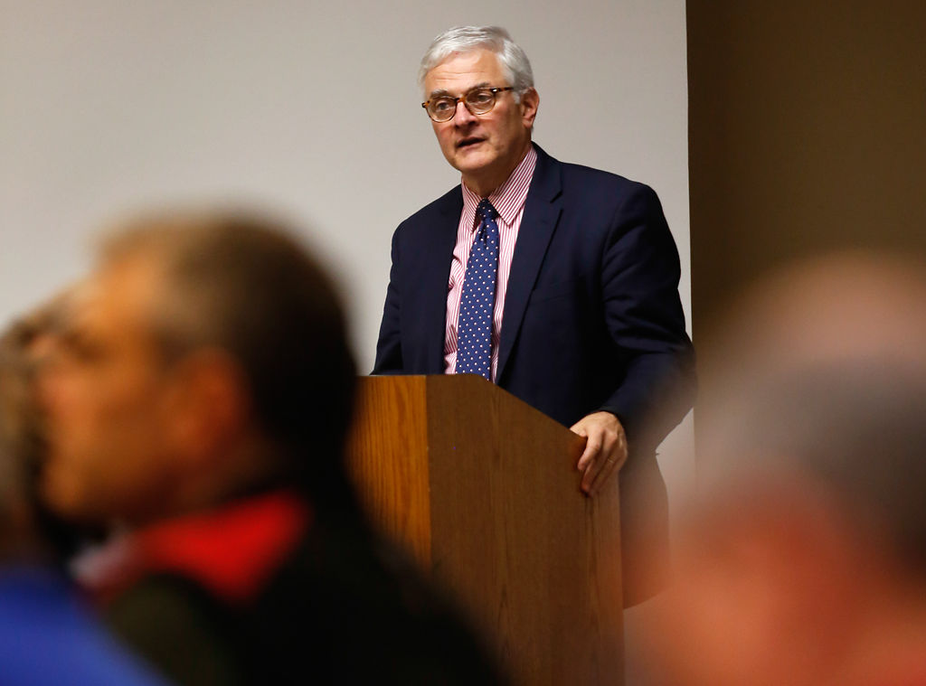 Hank Foley speaks during the MU Faculty Council meeting