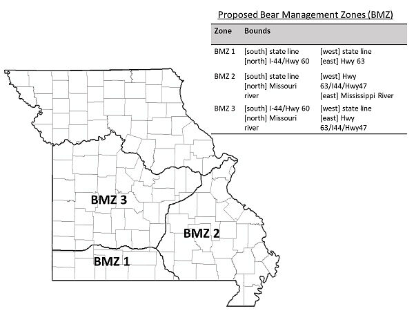 Map Provided by the Missouri Department of Conservation