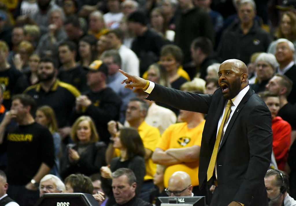 Missouri head coach Cuonzo Martin yells at his players to get back down the court (copy)