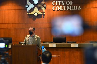 CPS Superintendent Peter Stiepleman speaks Tuesday during a community briefing