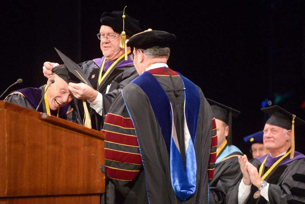 Former Mayor Darwin Hindman receives MU's annual honorary degree at Honors Convocation