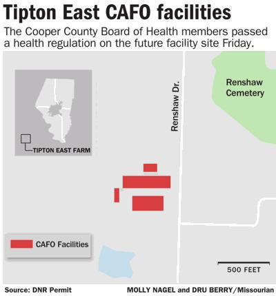 Tipton East CAFO facilities