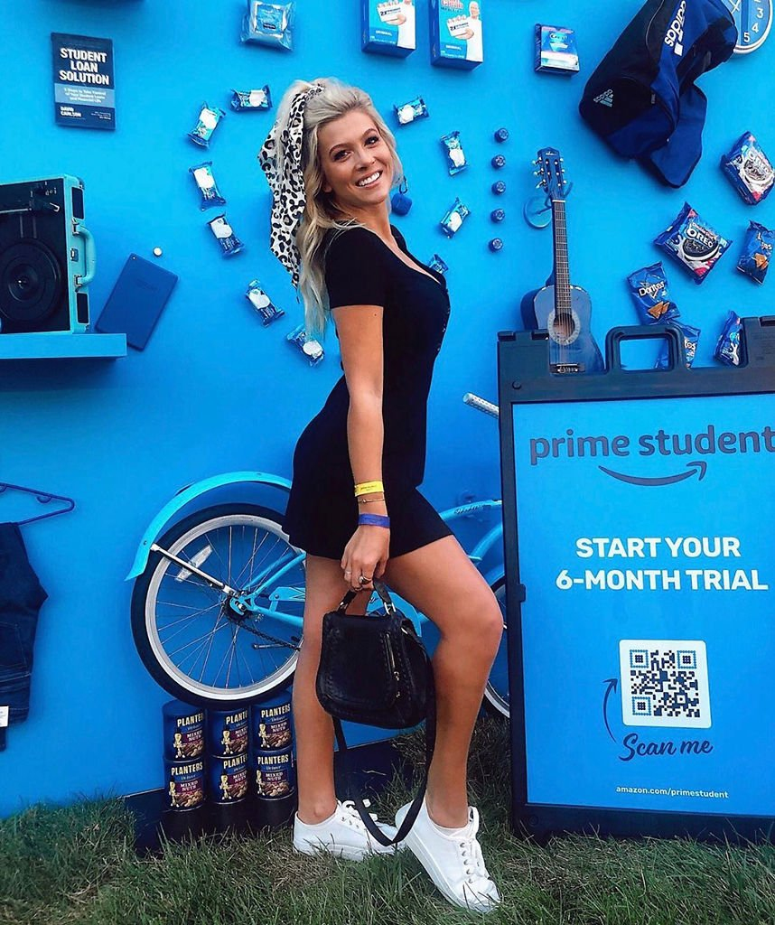 Lindley Schwartz, 21, poses at an Amazon Prime Student event.