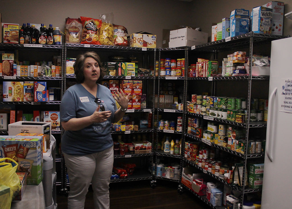 Ashlee Smith describes the process of receiving and distributing food