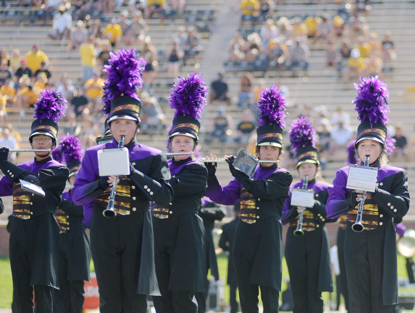 Hickman's marching band performs