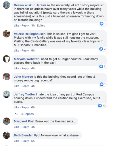 Mizzou community reacts to news of Pickard Hall's imminent demise