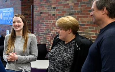 Hickman student Kristin Kelly receives the Presidential Scholarship