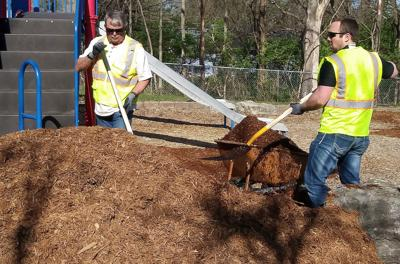 City employees, residents volunteer to clean up Worley