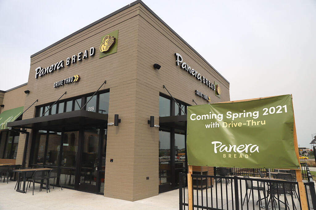 A new Panera Bread stands on the corner