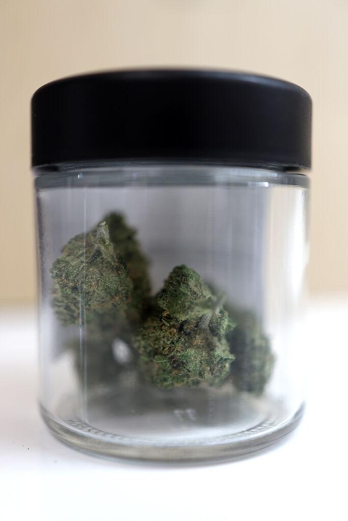 A jar containing 3.5 grams