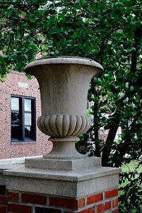 An urn from the original construction of Hickman High School