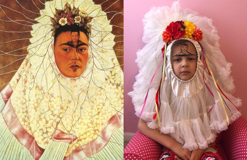 Rosie Parker recreates Frida Kahlo's 'Diego on My Mind' painting