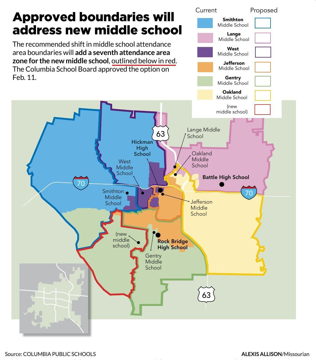Approved boundaries will address new middle school
