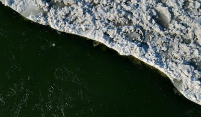 Ice jam on Missouri River causes concern for drinking water systems