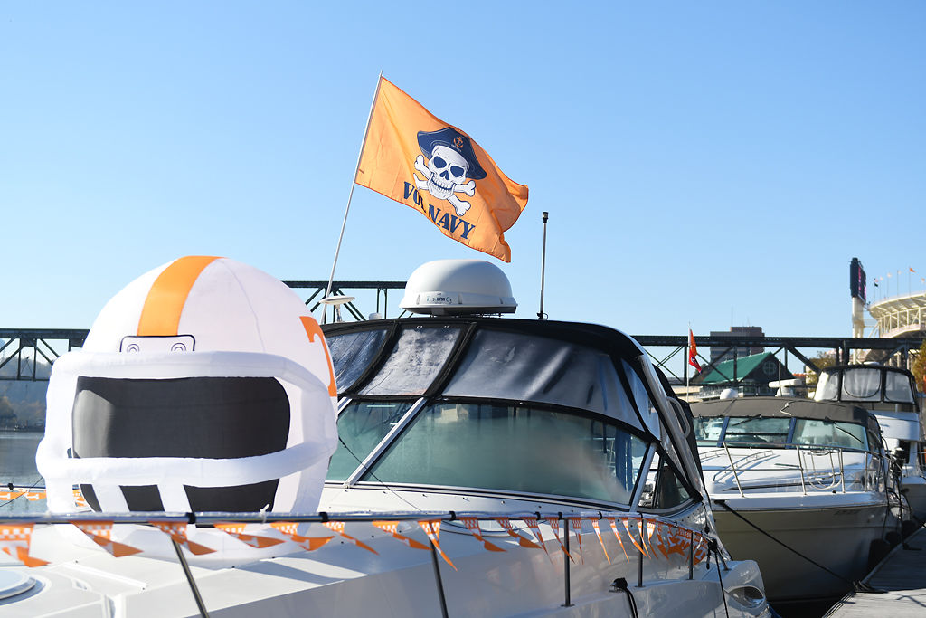 Vol Navy's floating tailgate is one of Tennessee's most unique
