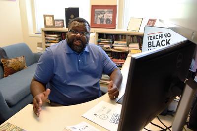 LaGarrett King works in his office