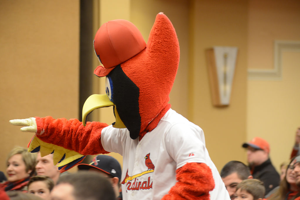 Fredbird made an appearance during the Cardinals Caravan
