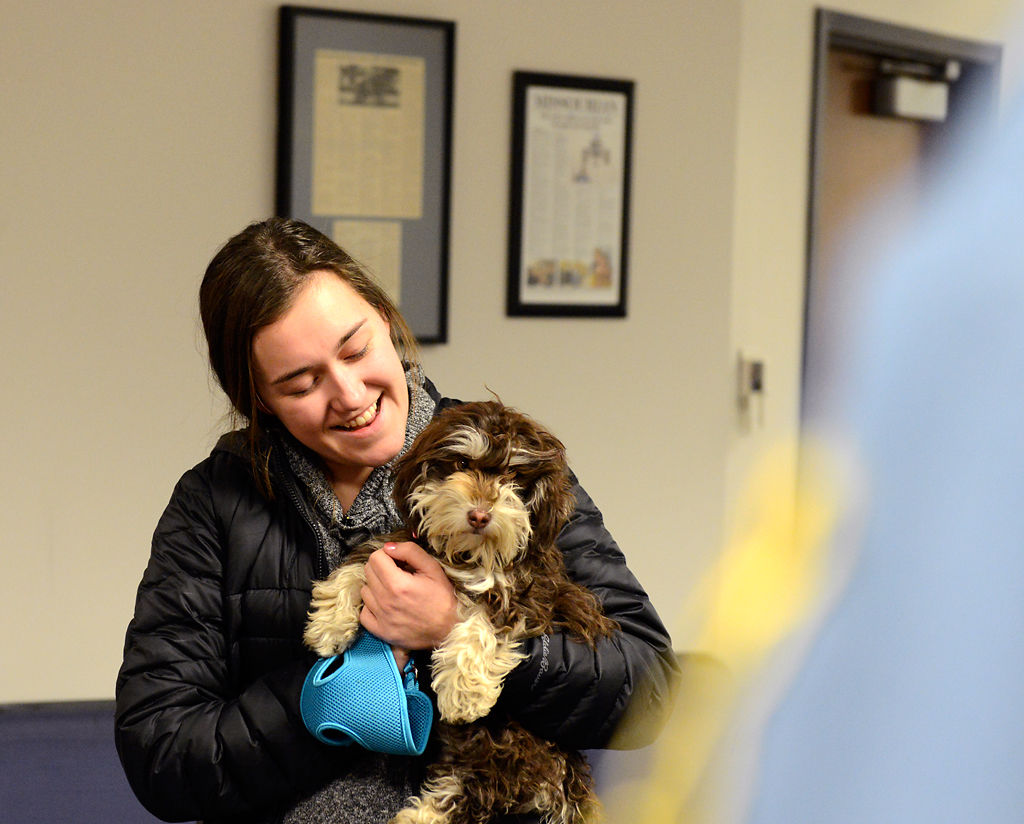 Katherine Matteson is reunited with her six-month-old puppy