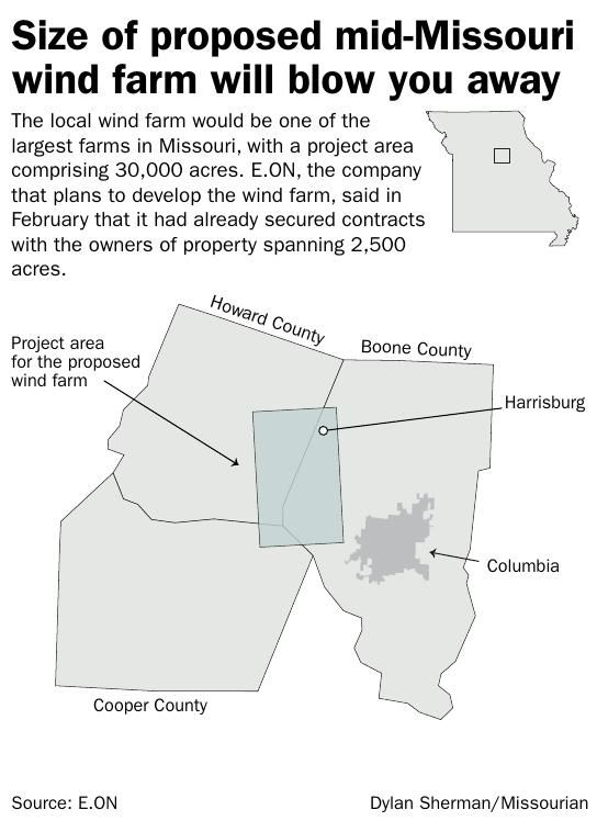 Size of proposed mid-Missouri wind farm will blow you away