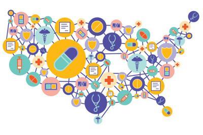 Prescription drug database illustration