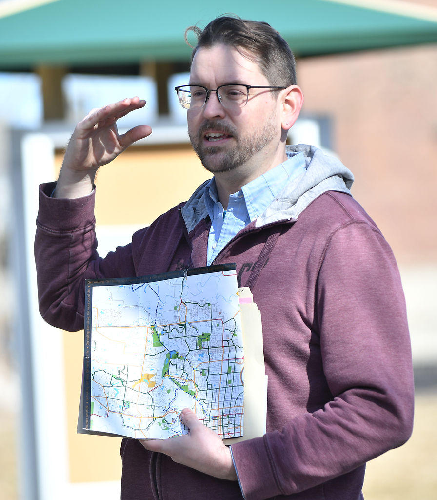 Andy Heaslet discusses a biking route