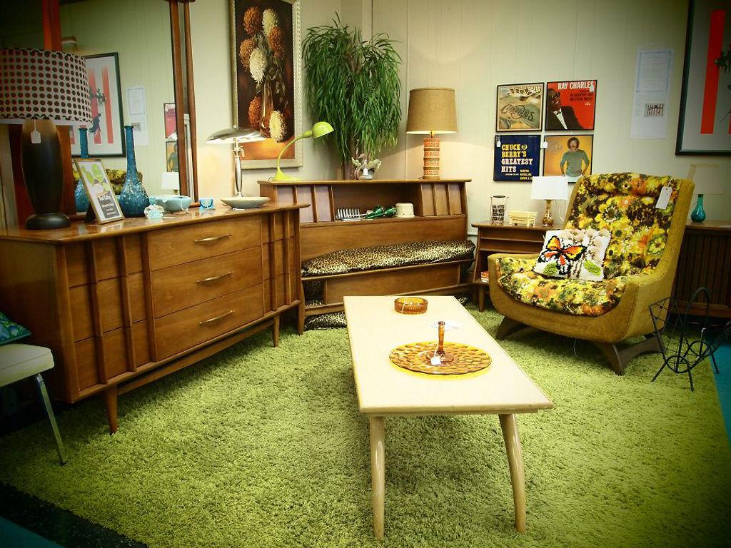Green shag furniture
