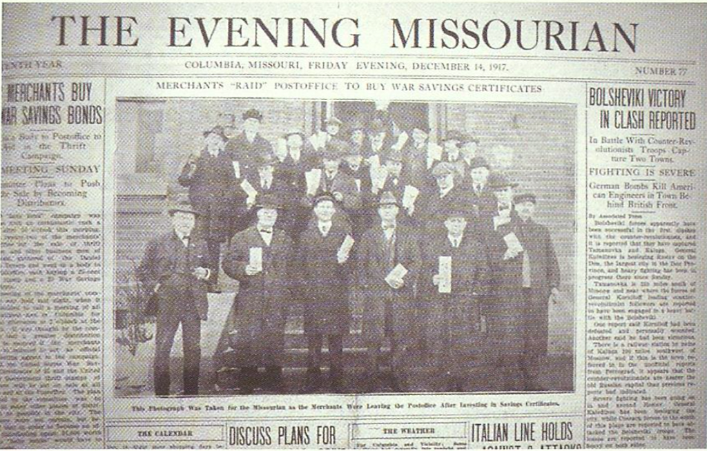 An issue of the Evening Missourian was published