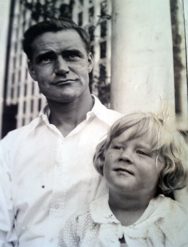 Ann Agran with her uncle in 1930