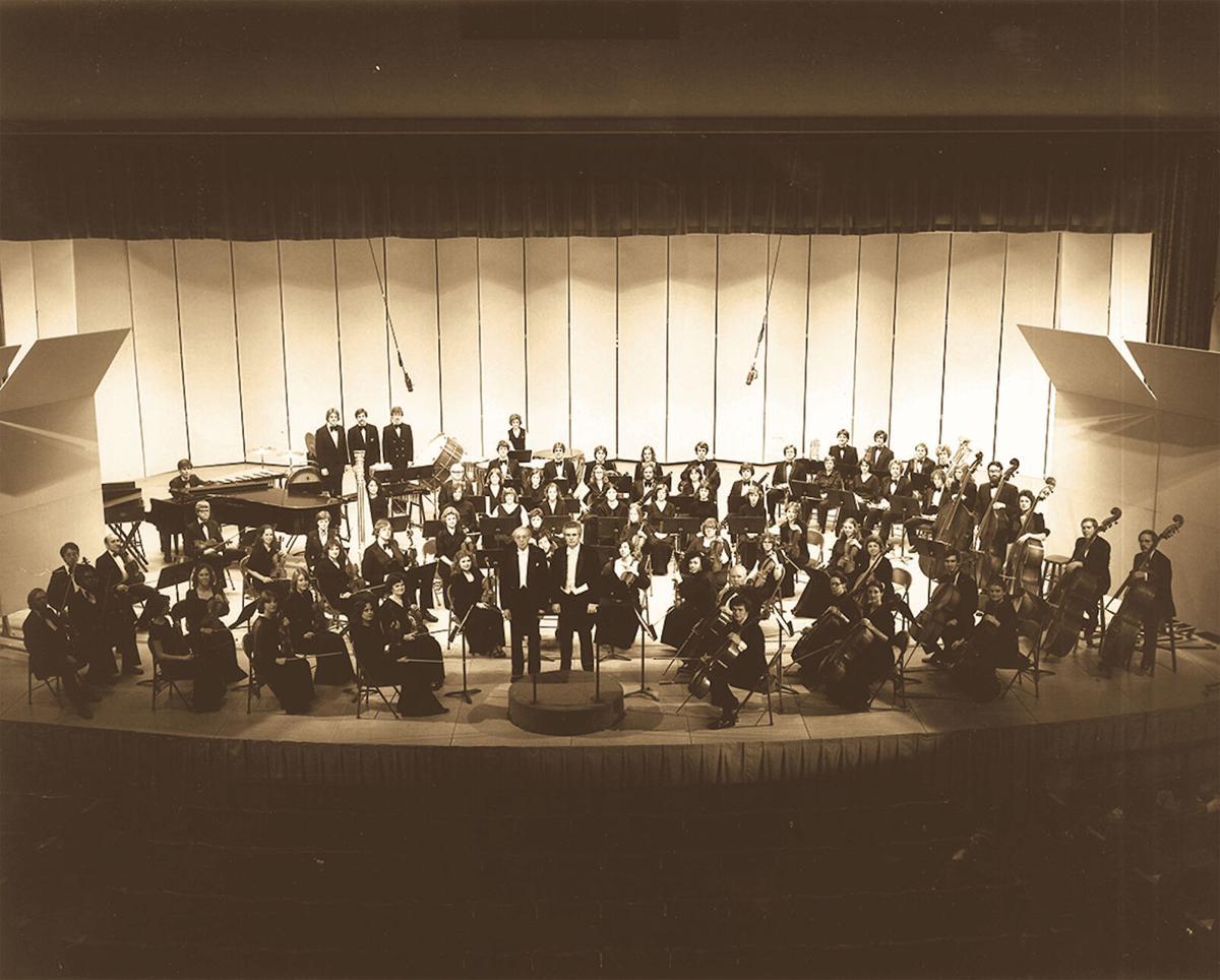 Aaron Copeland and the University Philharmonic perform