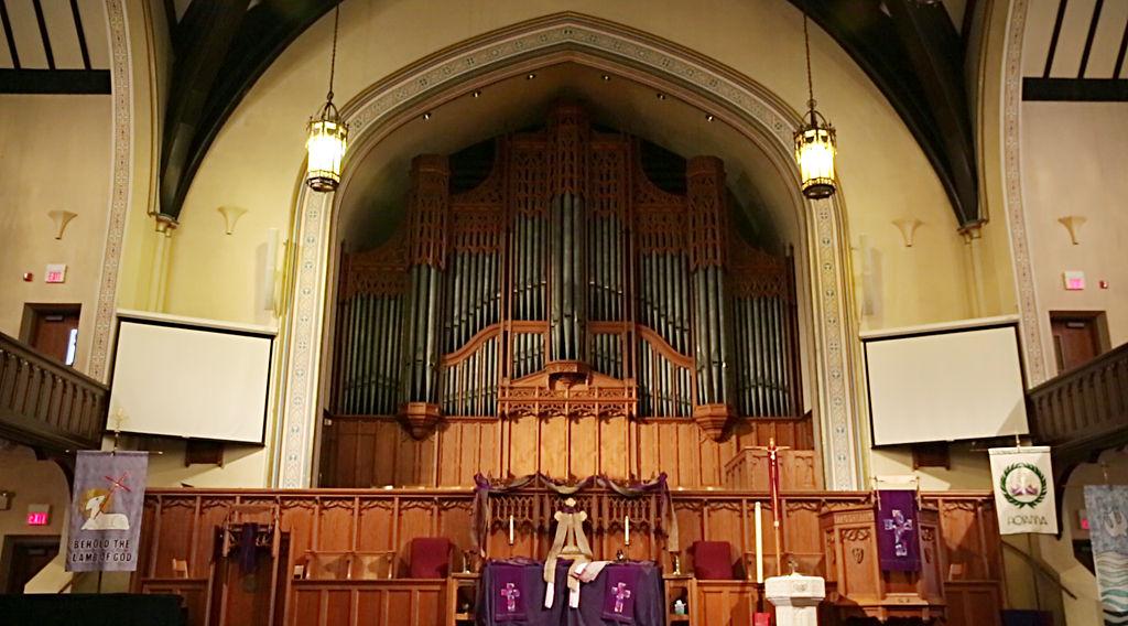 Ken Kavanaugh has been working on the region's pipe organs