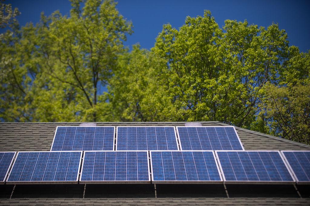 Solar panels absorb maximum amount of sunlight