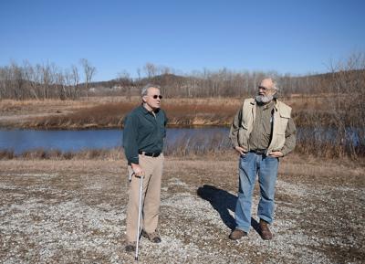 Hank Ottinger and Doug Elley visit Eagle Bluffs Conservation Area