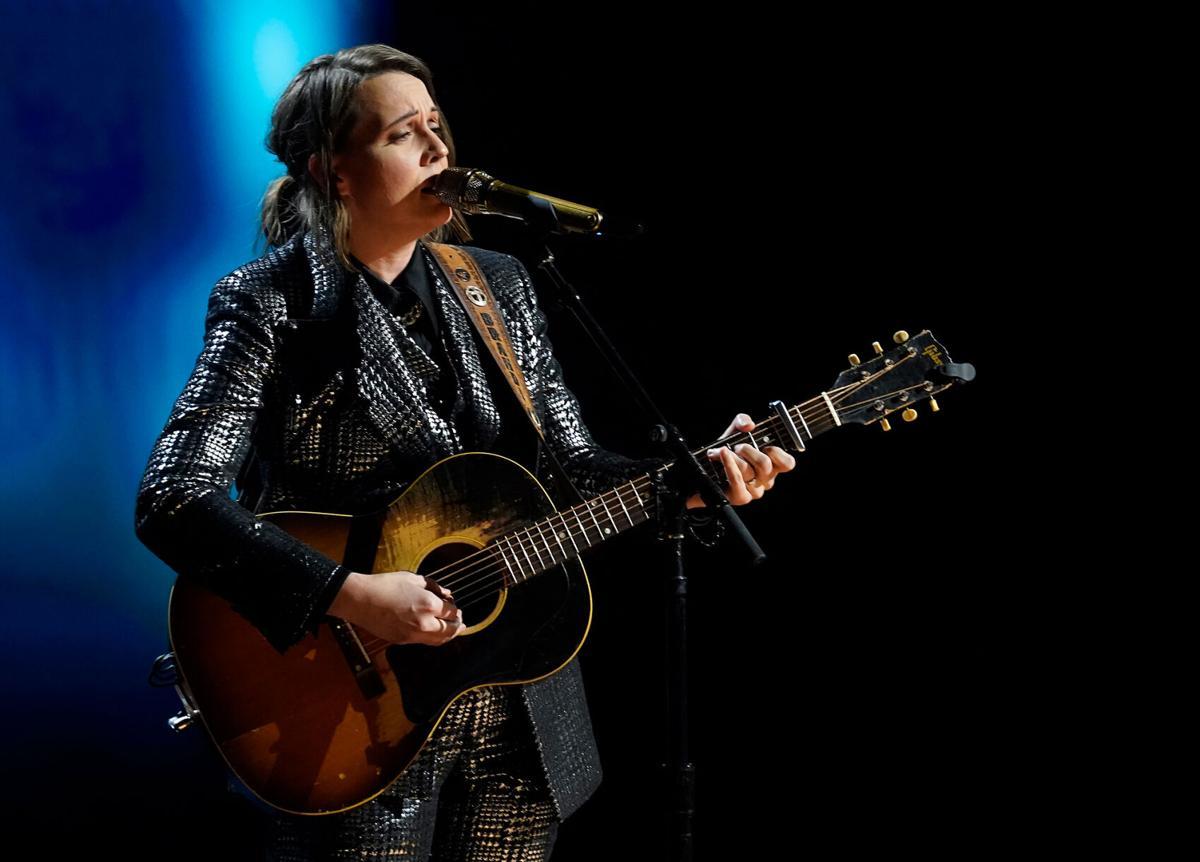 Brandi Carlile performs at the Grammys