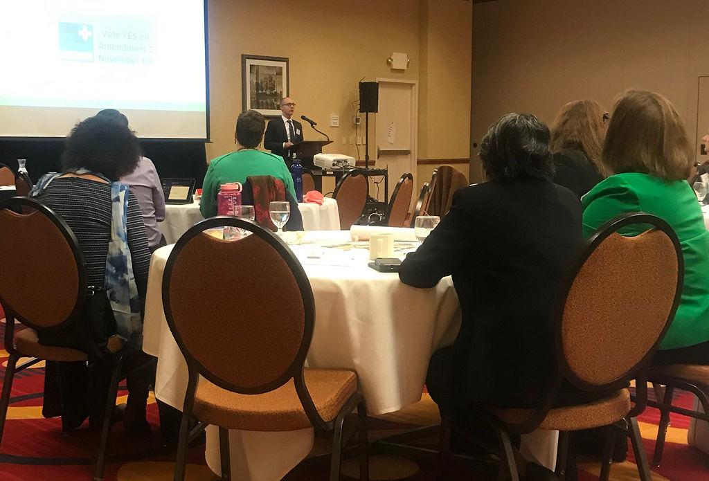 Dr. Lucas Buffaloe presents on a physician's perspective to medical marijuana.