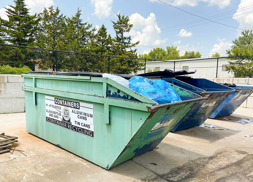 Collection bins at 3601 S. Providence Road