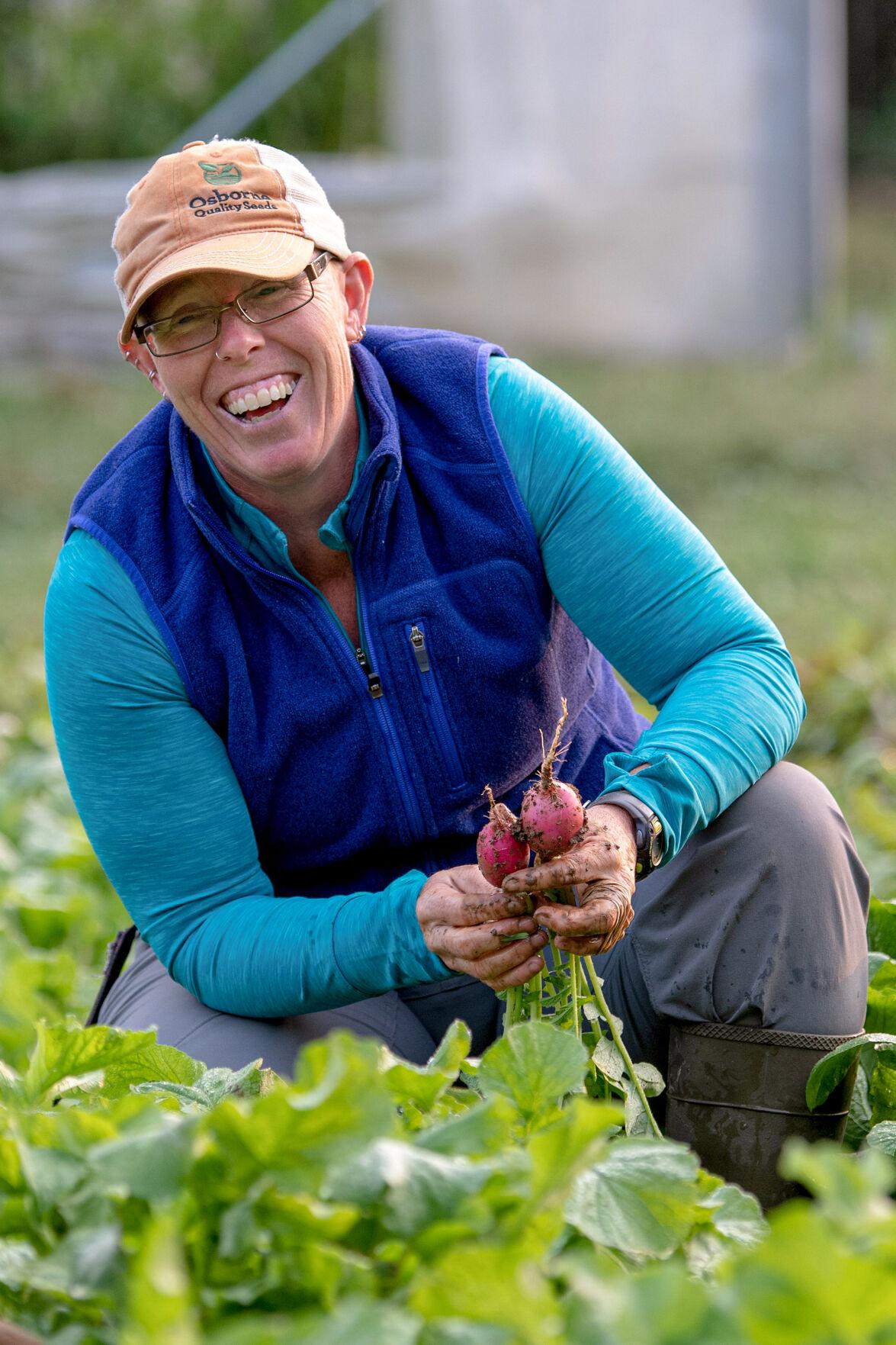 Liz Graznak displays her trademark smile
