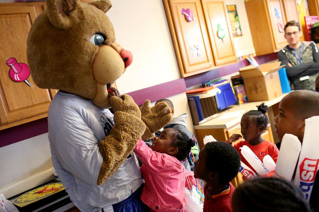 Columbia College Mascot Makes Surprise Visit To Fun City