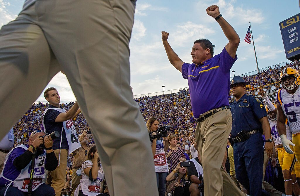 Lsu Shaky Since Title Win But Still Favored In Matchup With Missouri Tiger Kickoff Columbiamissourian Com