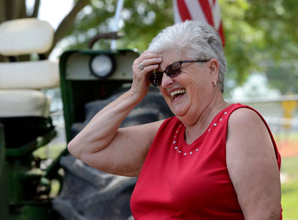 Linda Lynn laughs at a memory