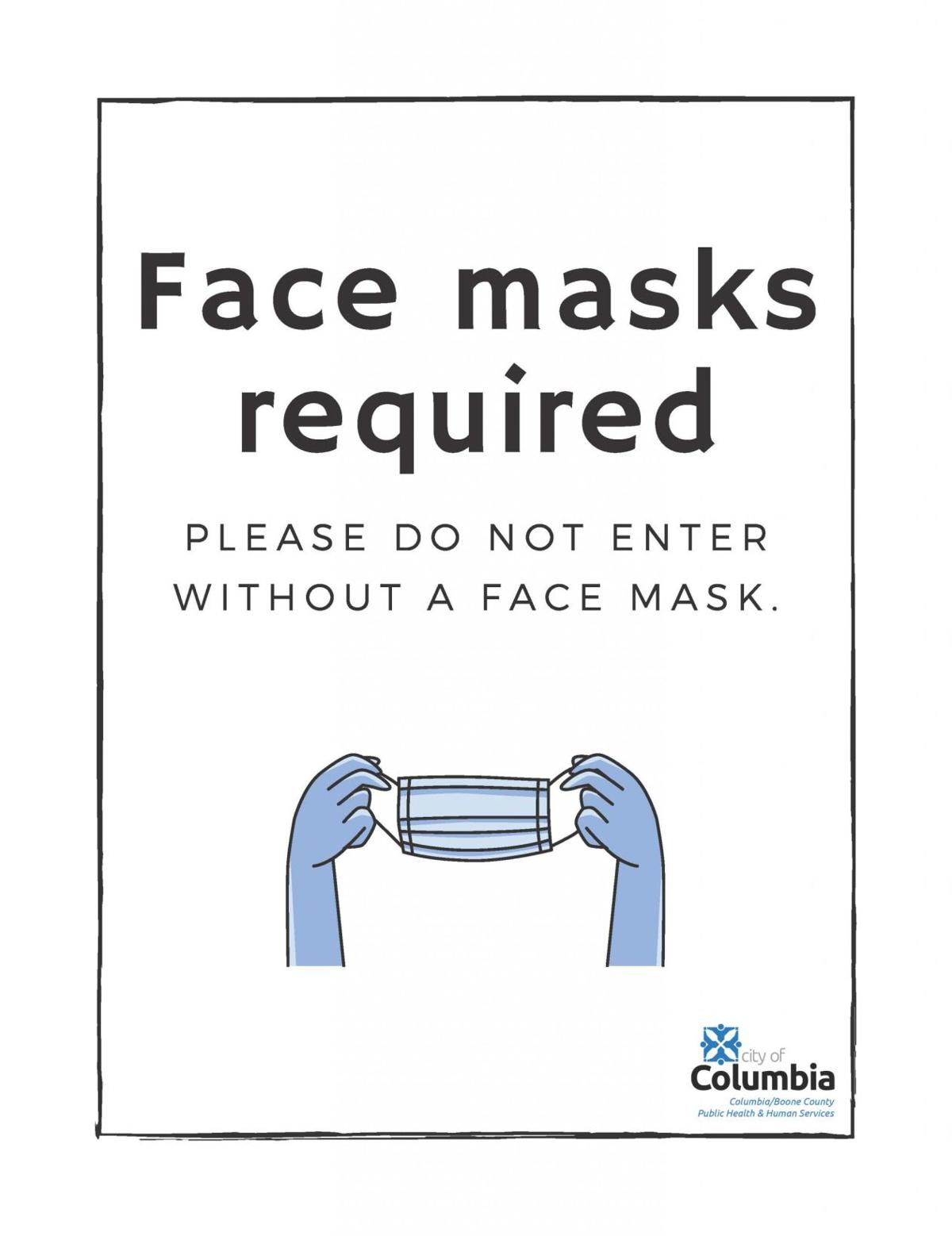 Please do not enter without a face mask
