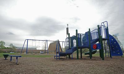 Trinity Lutheran Church playground stands vacant