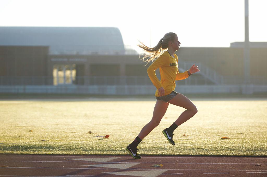 Karissa Schweizer runs at Walton Stadium (copy)