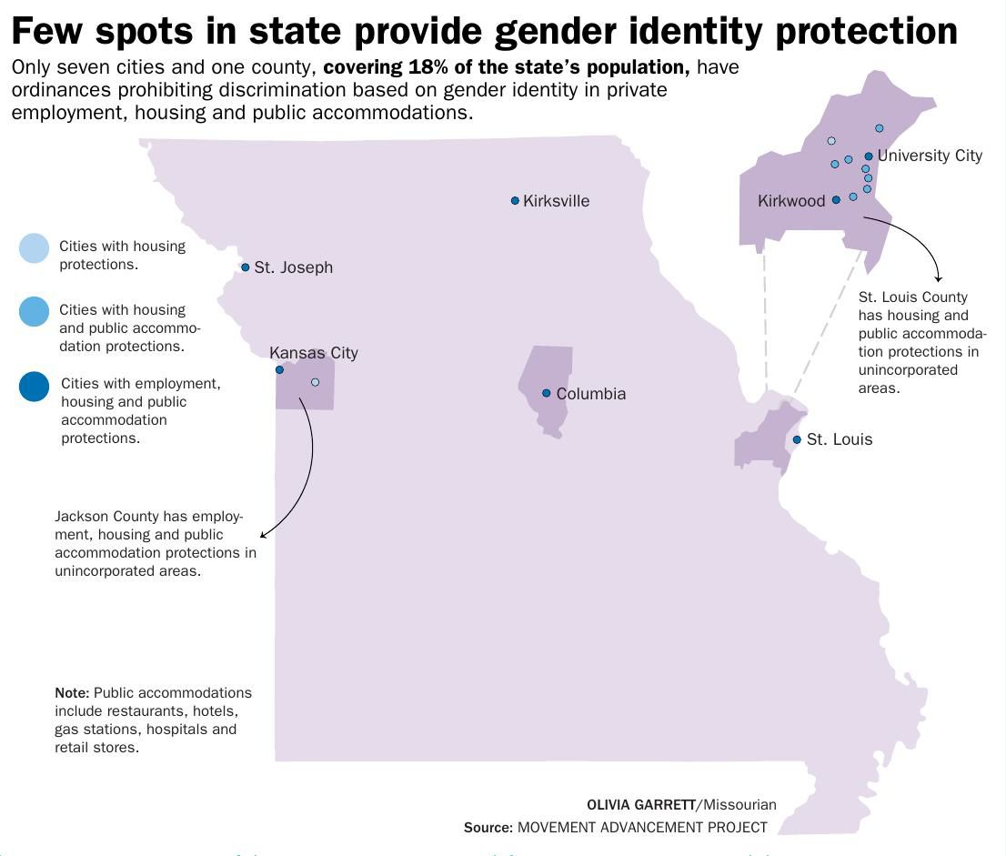 Few spots in state provide gender identity protection