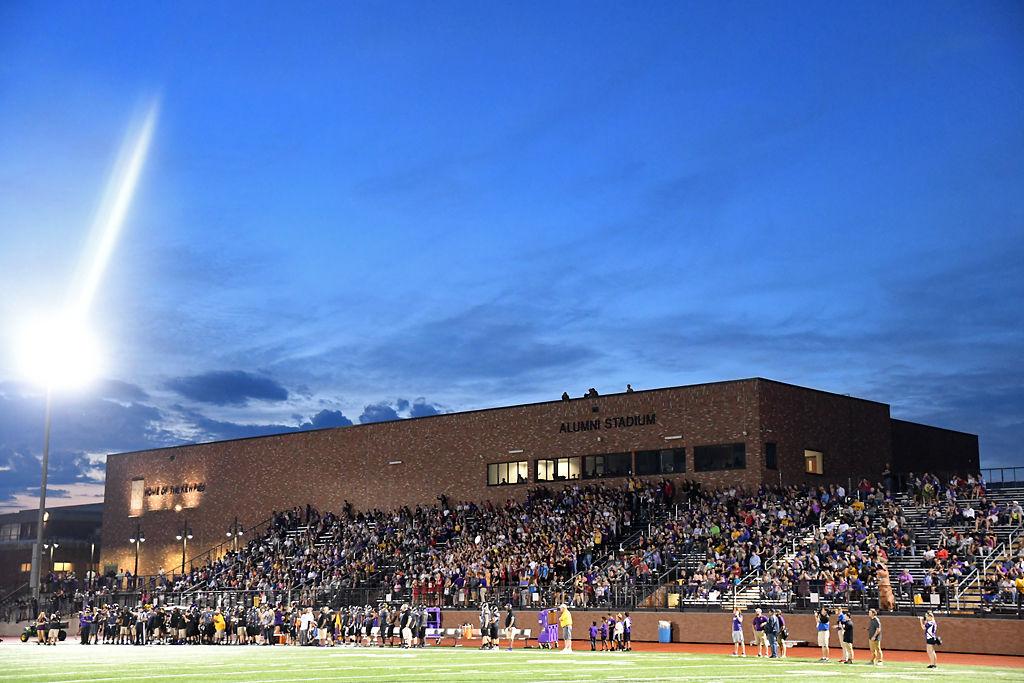 Hickman High School's football team takes on Helias Catholic High School