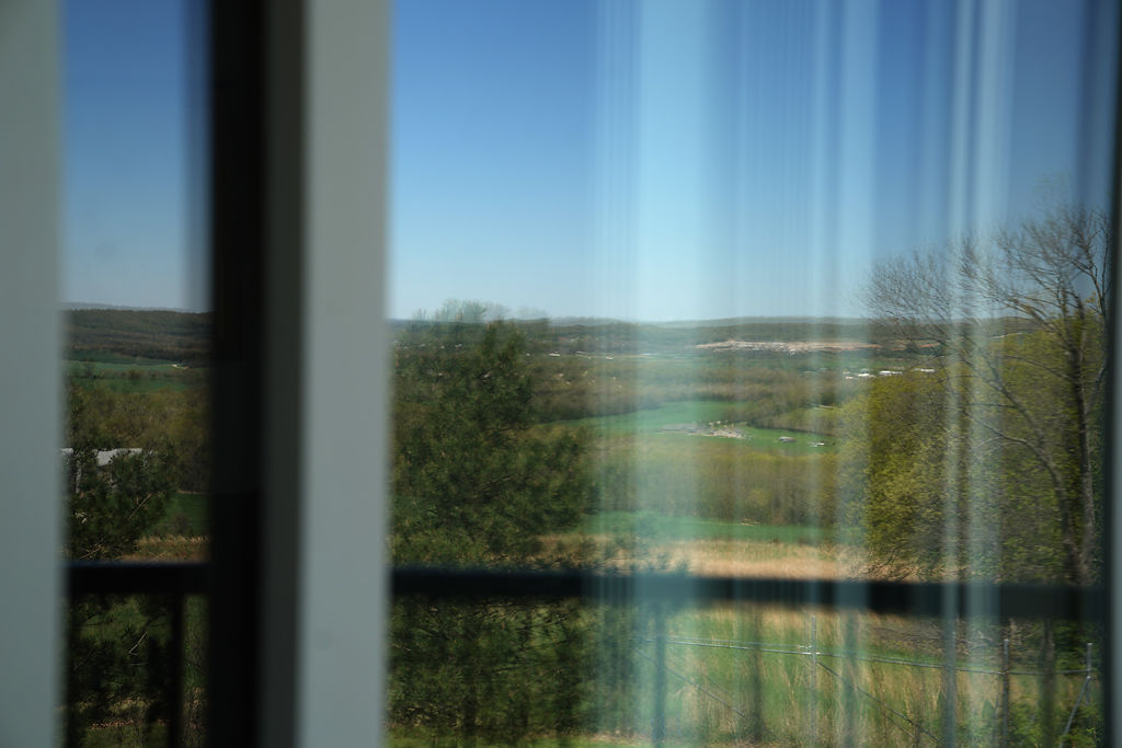 View from a guest house at the Crow Ridge Tiger Sanctuary