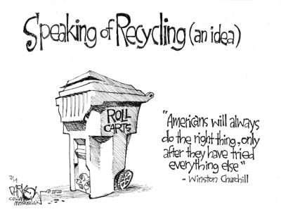 Speaking of recycling