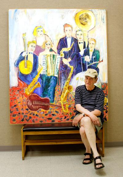 Local artist donates 'Big Band' painting to Columbia Public Library