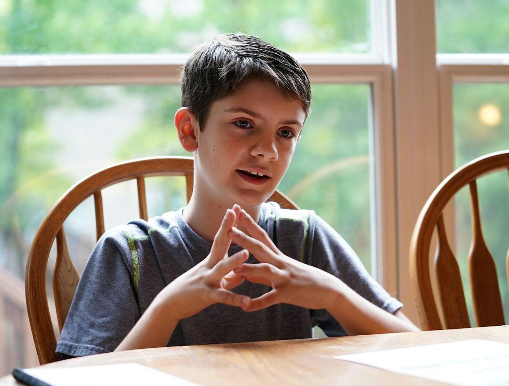 Jacob Schelp, 12, talks about his experience of lobbying state legislators